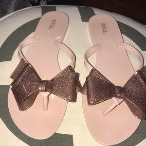 Melissa Rosegold Jelly Flip flops 10